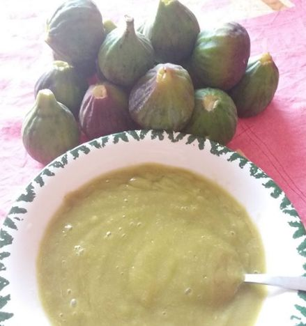 Fig sauce I made the other day - excellent baby food